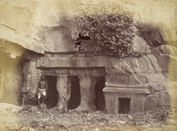 Entrance to a small rock-cut temple, Undavalli, Krishna District 1368